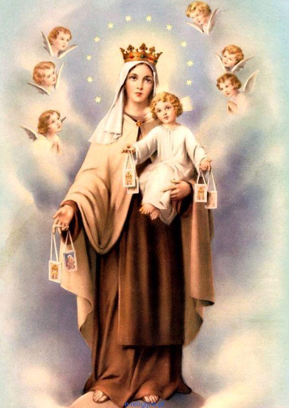 Matka Boża SZKAPLERZNA pocztówka 10 x 15 (zestaw 8 sztuk)