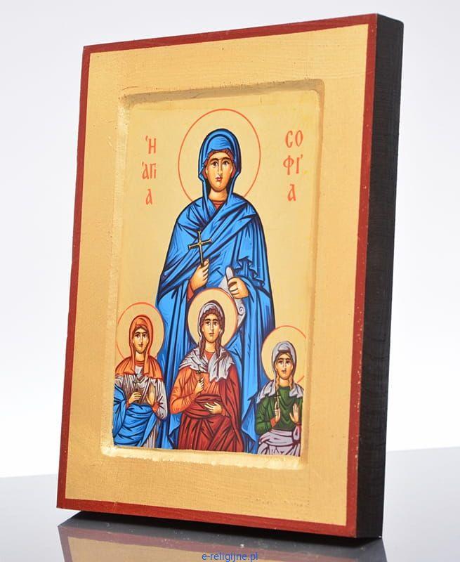 Ikona grecka święta Zofia 18 x 24 sklep z ikonami i ...