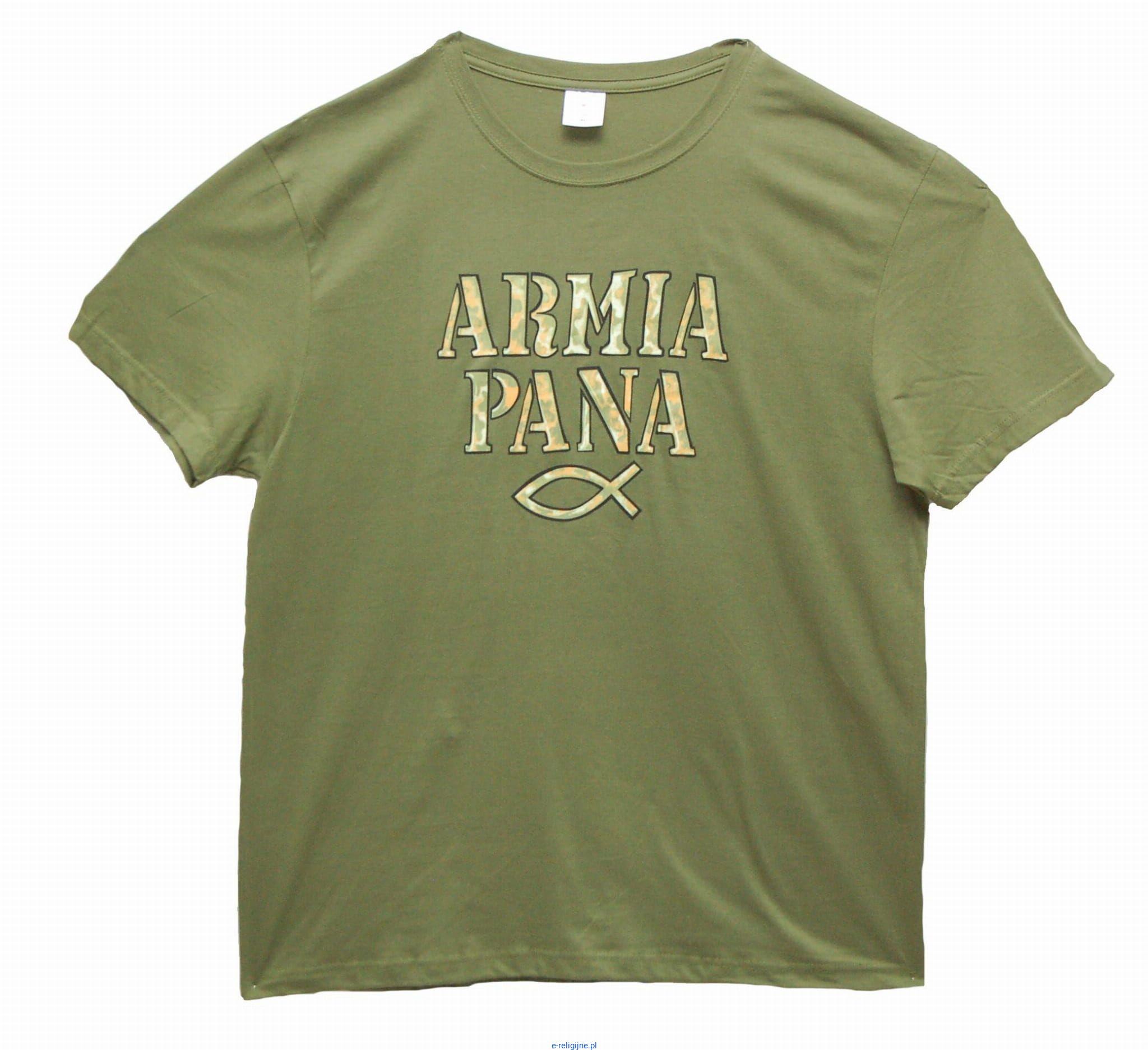4f430dd23 Sklep chrześcijański: Chrześcijańska męska koszulka religijna Armia Pana -  najwięcej wzorów koszulek religijnych - e