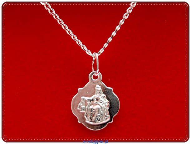 2156f0ab4ee27d Zestaw łańcuszek srebrny z medalikiem szkaplerznym - 2 e-religijne.pl