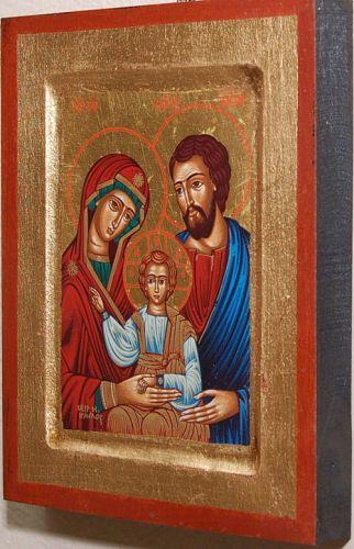 Ikona Bizantyjska święta Rodzina 14 Cm X 18 Cm